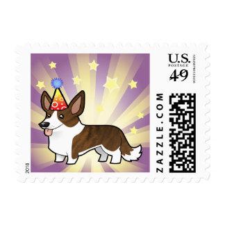 Birthday Cardigan Welsh Corgi Stamp