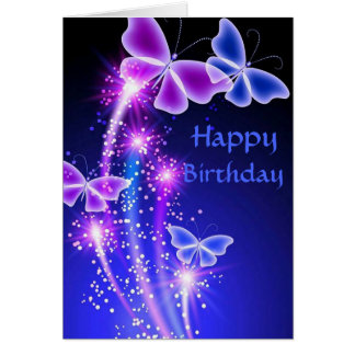 Birthday Cards: Butterfly Kisses Card