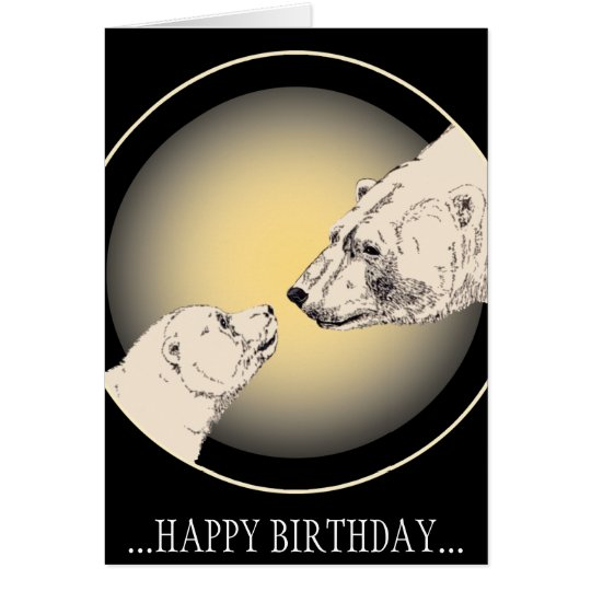 Birthday Cards Custom Polar Bear Greeting Card