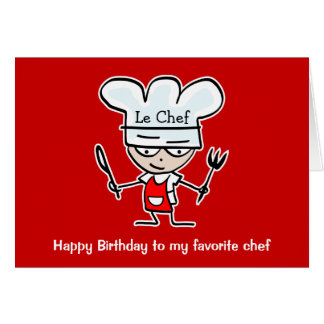 Birthday cards for chefs & cooks - Buy here