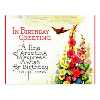 Birthday Cards Postcard
