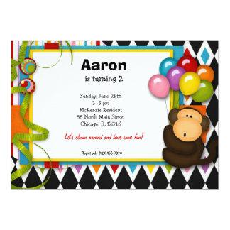 "Birthday Carnival 5"" X 7"" Invitation Card"