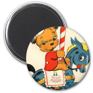 Birthday Carousel Fridge Magnet