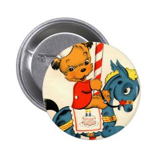 Birthday Carousel Pinback Button