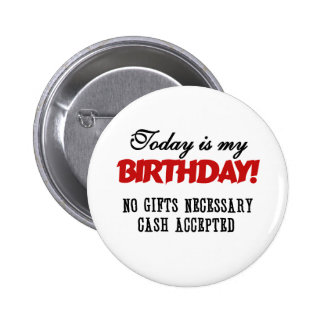Birthday Cash Accepted Button