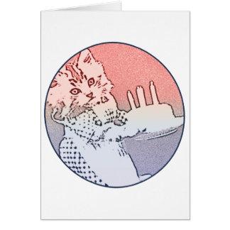 Birthday cat cake card