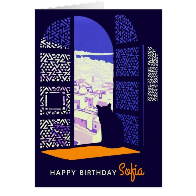 Birthday Cat in a window Casablanca CC0326 Card