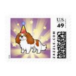 Birthday Cavalier King Charles Spaniel Postage Stamp