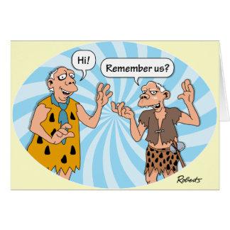 Birthday: Cavemen Humor Card
