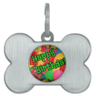 Birthday celebration pet tag
