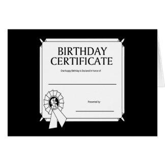 Birthday Certificate Card