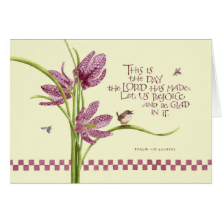 Birthday/Checkered Lily Card