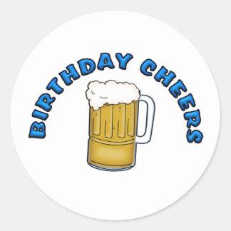 Birthday Cheers Round Sticker