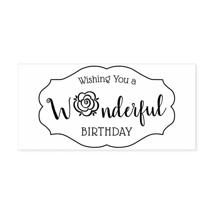 Birthday Chic floral vintage perfume labels CC0143 Rubber Stamp
