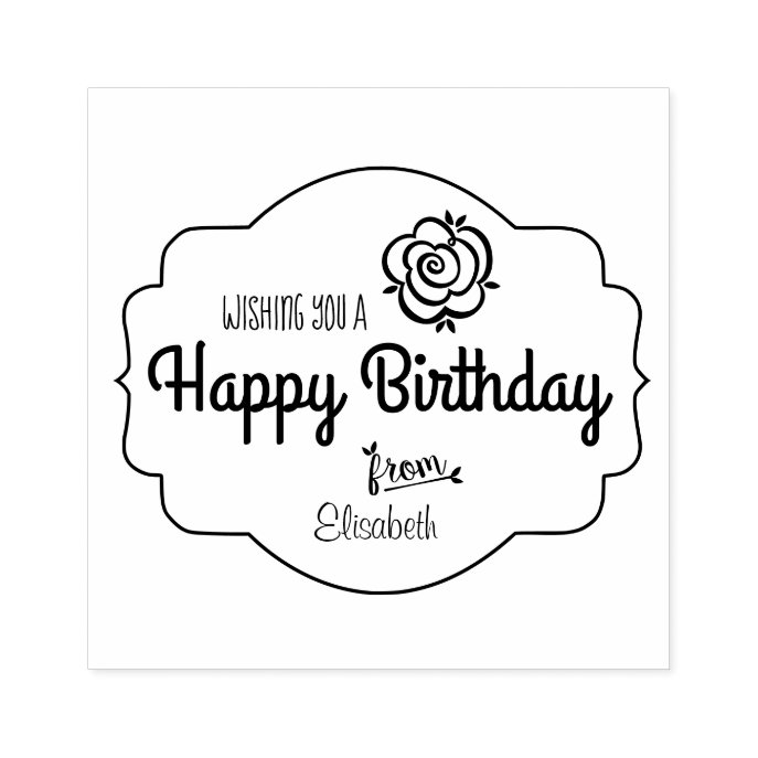 Birthday Chic vintage perfume labels rose CC0022 Rubber Stamp