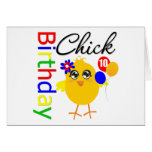 Birthday Chick 10 Years Old Card