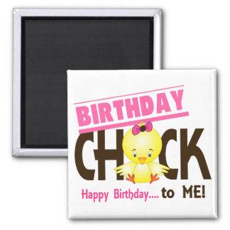 Birthday Chick 1 2 Inch Square Magnet