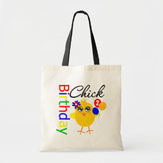 Birthday Chick 2 Years Old Canvas Bags