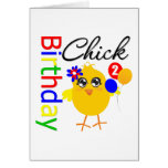Birthday Chick 2 Years Old Greeting Cards