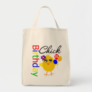 Birthday Chick 32 Years Old Tote Bags