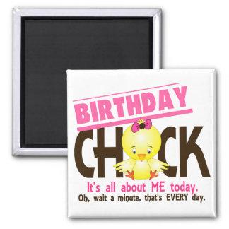 Birthday Chick 3 2 Inch Square Magnet