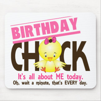 Birthday Chick 3 Mouse Pad