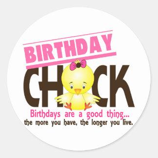 Birthday Chick 4 Classic Round Sticker