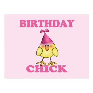 Birthday chick postcard
