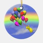 Birthday Chicken Flight Christmas Ornaments
