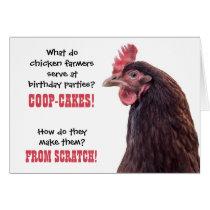 Birthday Chicken Jokes with Hen Photo Card