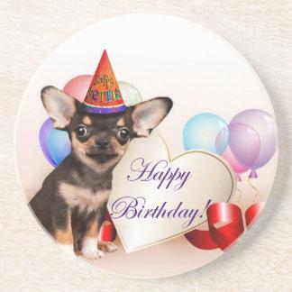 Birthday Chihuahua dog Coaster