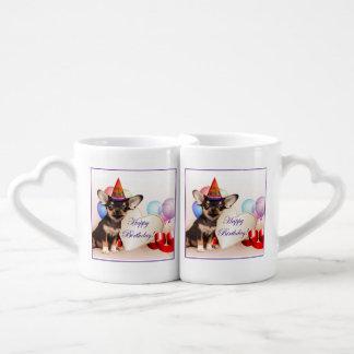 Birthday Chihuahua Dog Coffee Mug Set