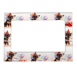 Birthday Chihuahua dog Magnetic Picture Frame