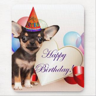 Birthday Chihuahua dog Mouse Pad