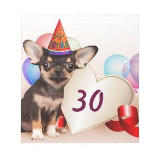 Birthday Chihuahua dog Notepad