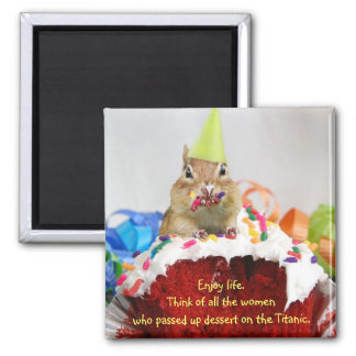 Birthday Chipmunk Magnet