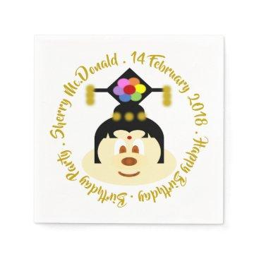 Wedding Themed Birthday - Chn Female Hat 鮑 鮑 Paper Napkin