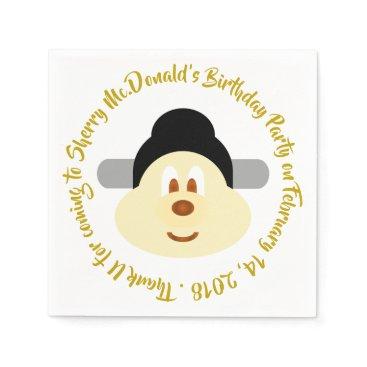 Wedding Themed Birthday - Chn Male Hat 鮑 鮑 Paper Napkin