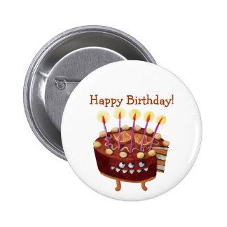 Birthday Chocolate Cake -Custom text- Button