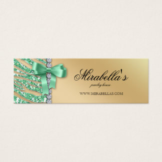 Birthday Christmas Price Gift Tag Jewelry Leopard Mini Business Card