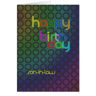 Birthday circles for son-in-law card