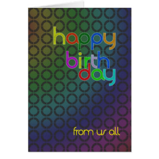 Birthday circles from us all card