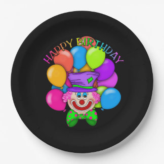 Birthday Clown Adult paper plate