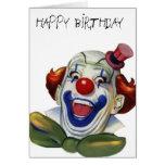 Birthday clown card