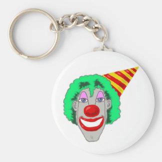 Birthday Clown Face Key Chain