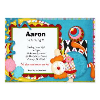 """Birthday Clown 5"""" X 7"""" Invitation Card"""