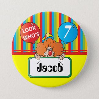 Birthday Clown | Personalize Button