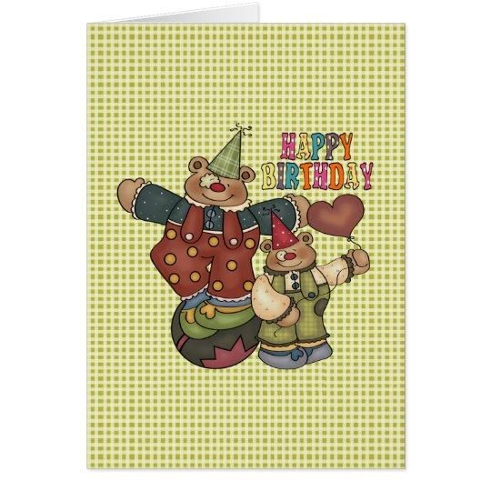 Birthday Clowns Card