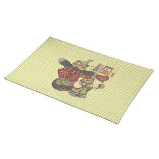 Birthday Clowns Cloth Placemat