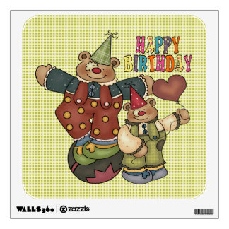 Birthday Clowns Wall Sticker
